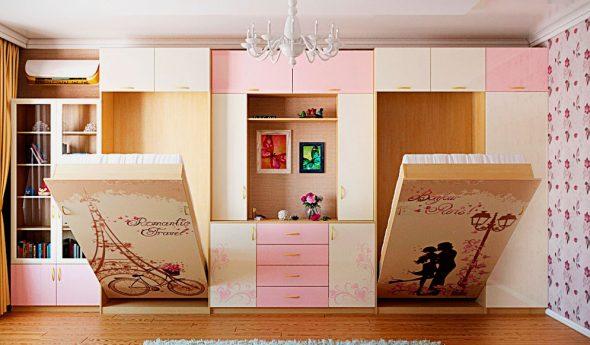 Кровати для двух девочек