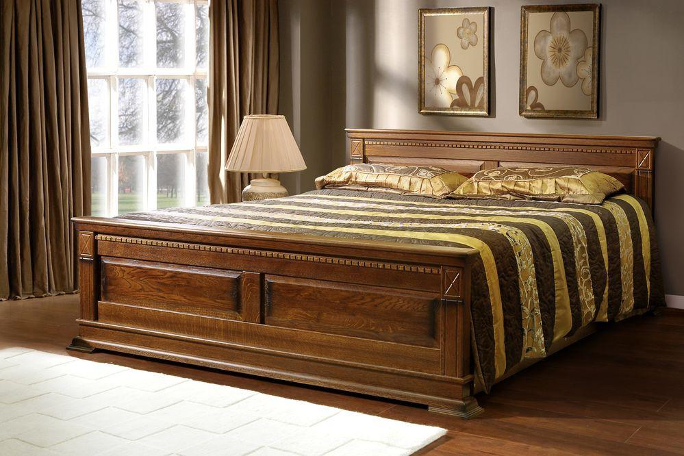 Кровати из массива натурального дуба