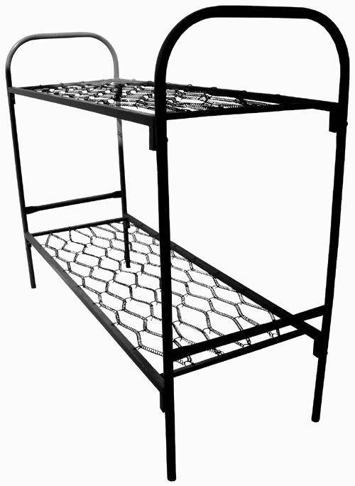 Кровати металлические одноярусные и двухъярусные для школ