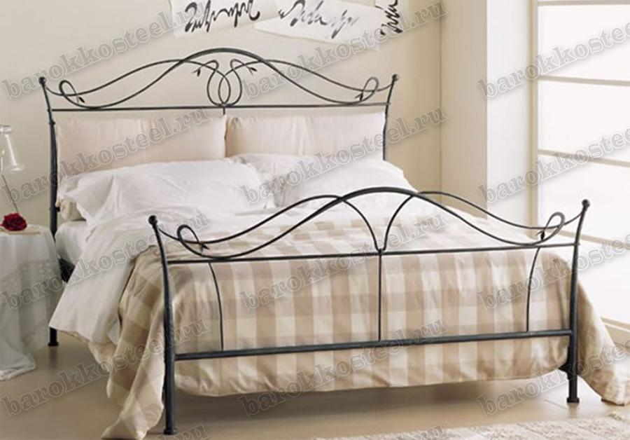 Кованые кровати с мягким изголовьем