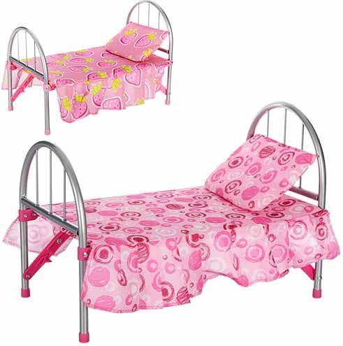 Кроватка для куклы из металла