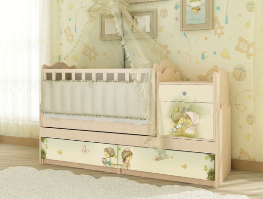 Кроватка с удобным механизмом