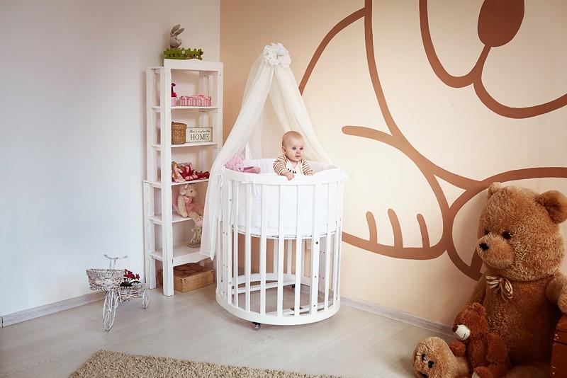 Кроватка-трансформер детская круглая