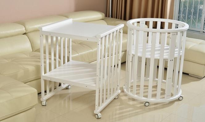 Круглая кроватка для сна