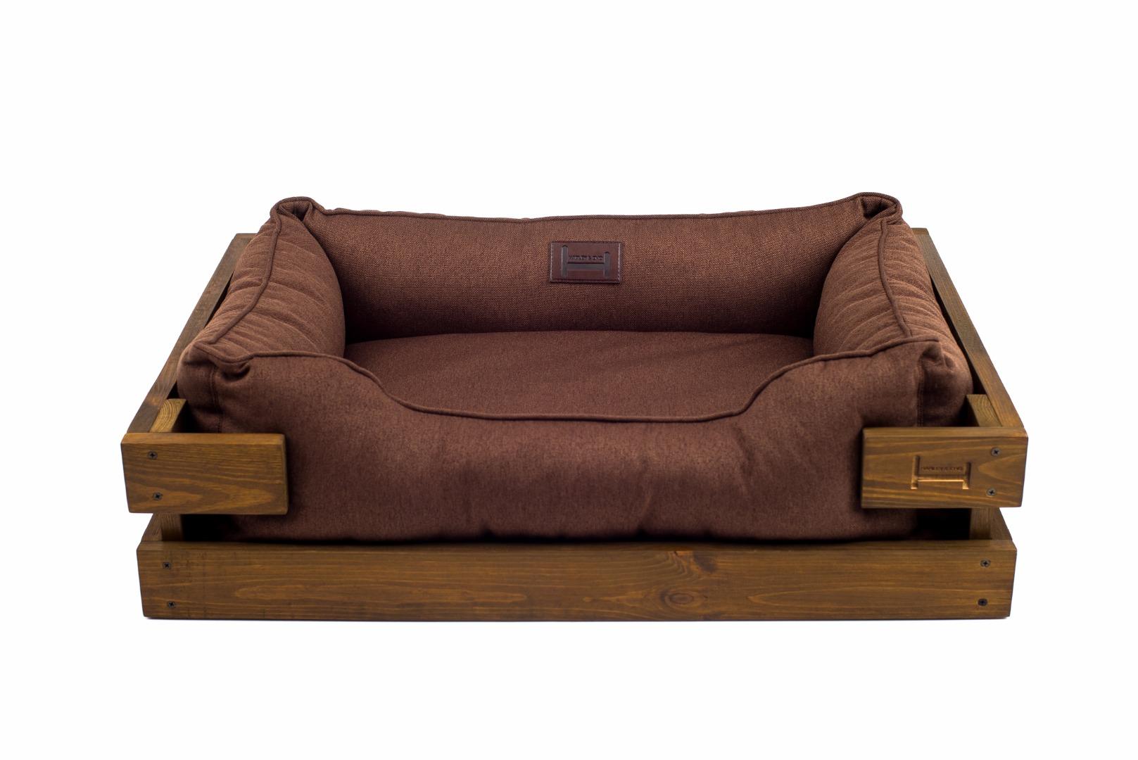 Лежак для собак элитный с деревянным каркасом