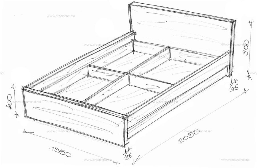 Материалы, инструменты и чертежи для двуспальной кровати