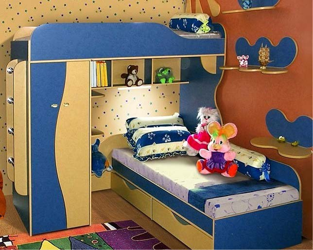 Мебель голубого цвета из МДФ