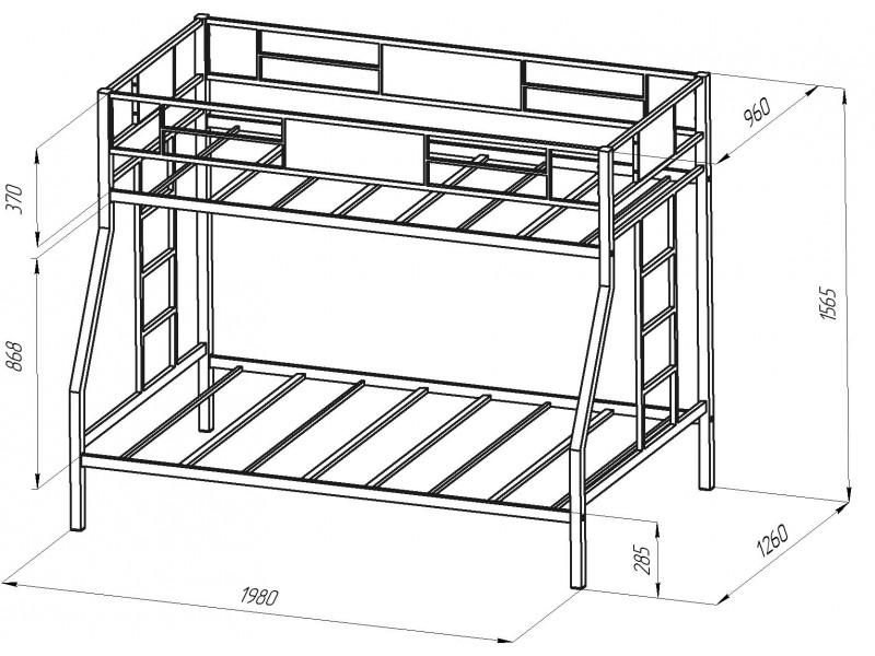 Металлические предметы мебели и их размеры