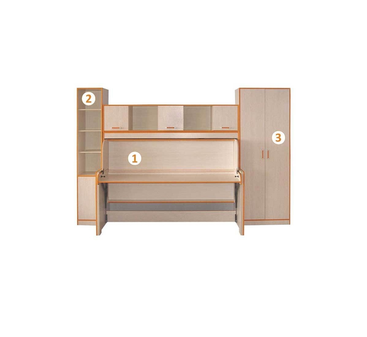 Модель кровати 3 в 1