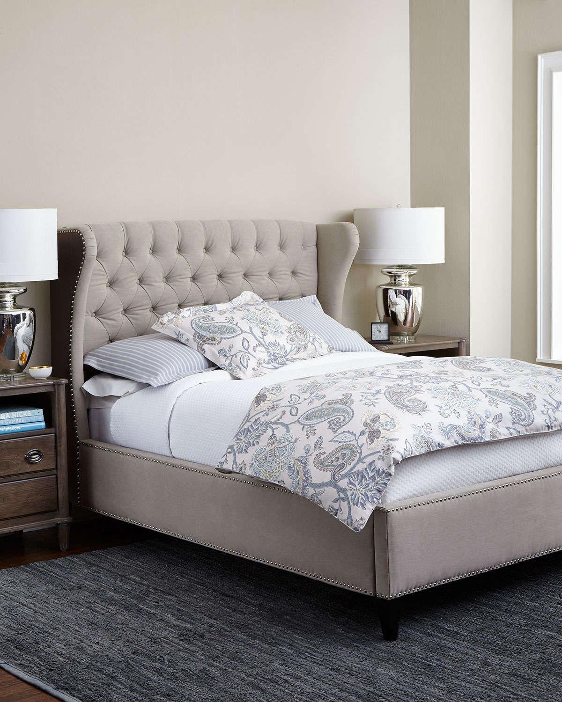 Мягкая кровать с ушами серого оттенка