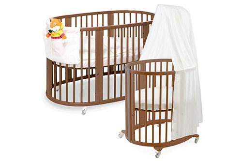 Новое слово в индустрии детской мебели для новорождённых — овальные кроватки-трансформеры