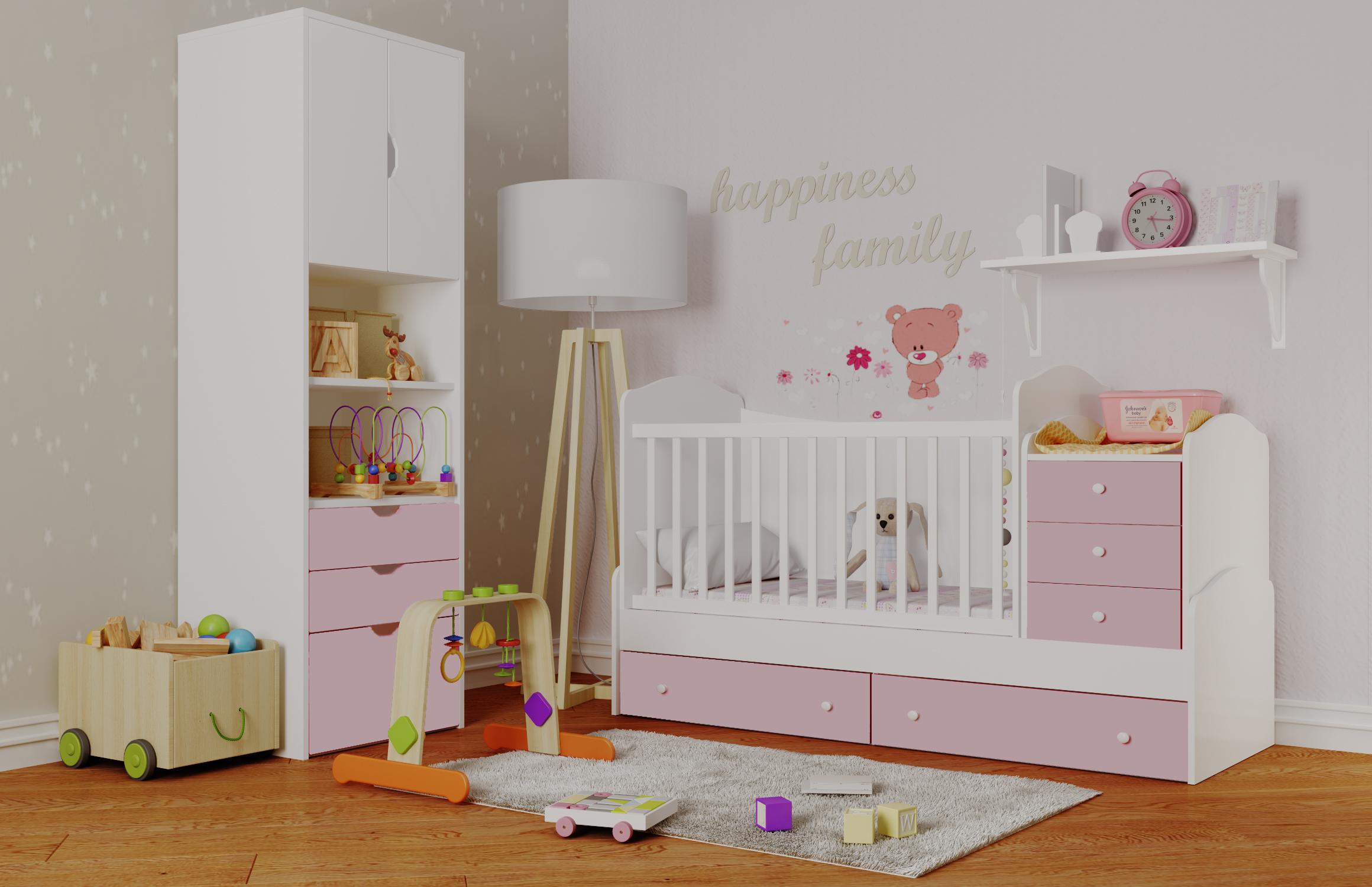 Обустройство комнаты ребенка практичной мебелью