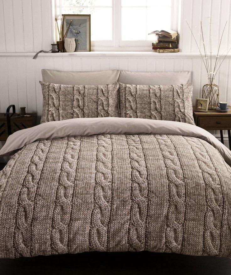 Одеяло вязаное для дома