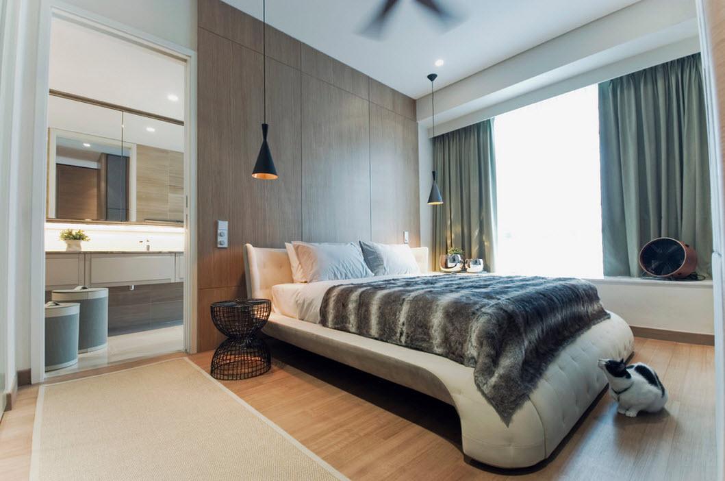 Оригинальная спальня в стиле модерн