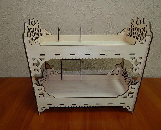 Оригинальный декор мебели для кукол