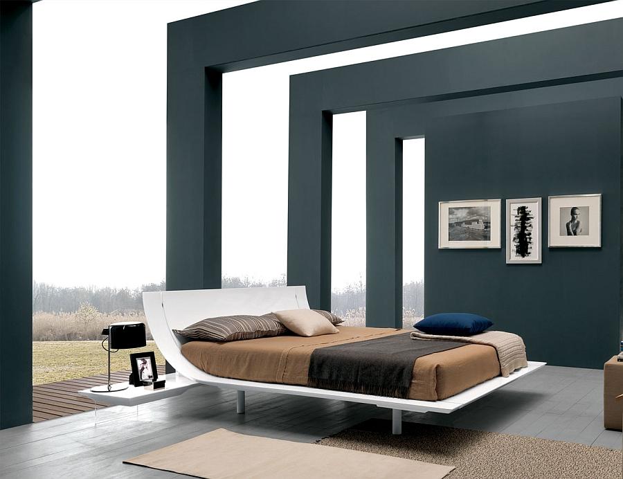Открытый интерьер спальни