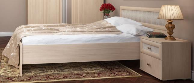 Оттенок кровати выбеленный дуб