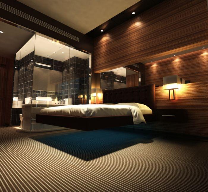 Парящая кровать - для элитного интерьера