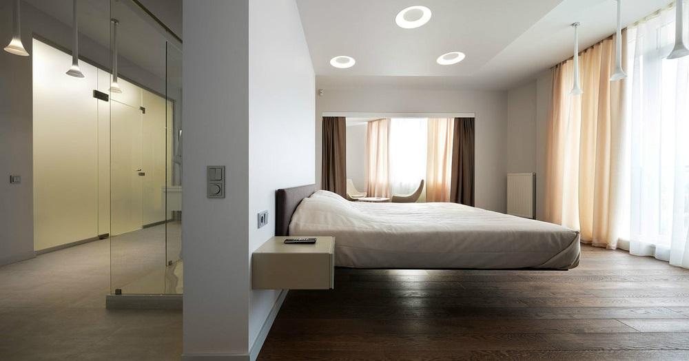 Парящая кровать - ключевая деталь интерьера Вашей спальни