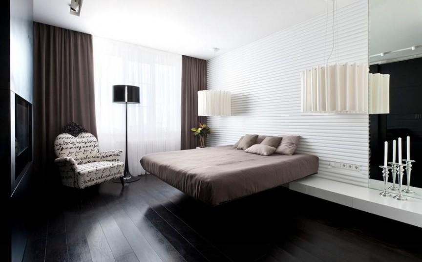 Парящая кровать не обязательно должна крепиться к стене