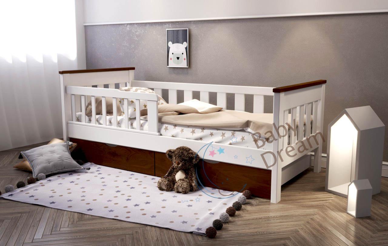 Подростковая кровать от 3 лет с бортиками