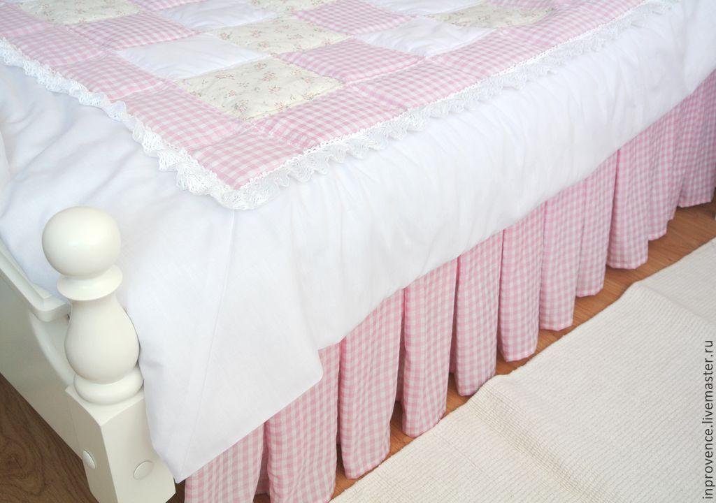 Подзор юбка для кровати в детскую комнату для девочки