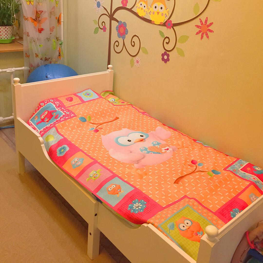 Покрывало габардиновое в детской комнате