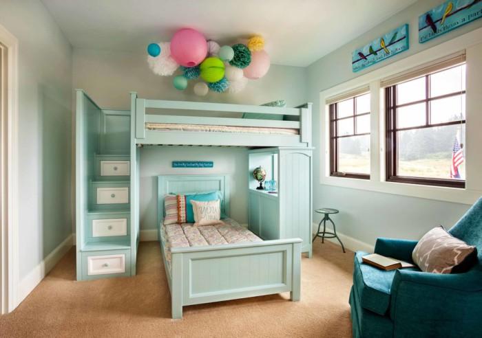 Потрясающая кровать для подростков с встроенными ступеньками вместо привычной лестницы