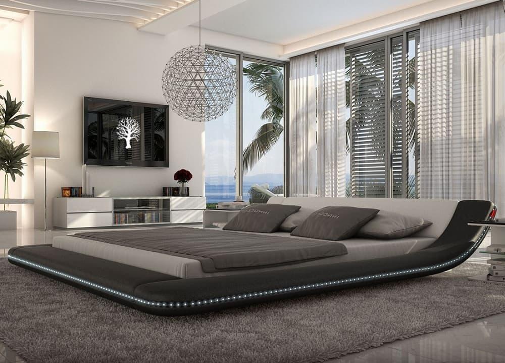 Потрясающая по красоте кровать в стиле хай-тек