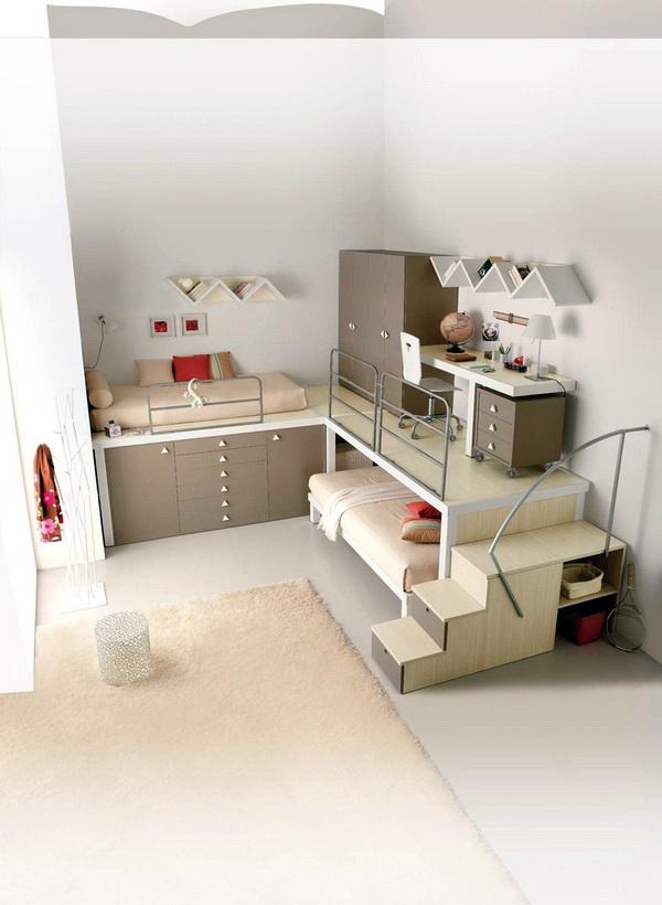 Практичные спальные места для двух детей