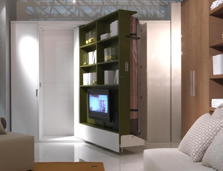 Практиная кровать трансформер для маленькой квартиры