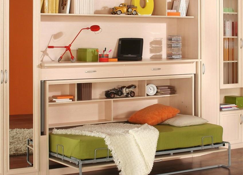 Преимущества и недостатки кровати-стола для дома