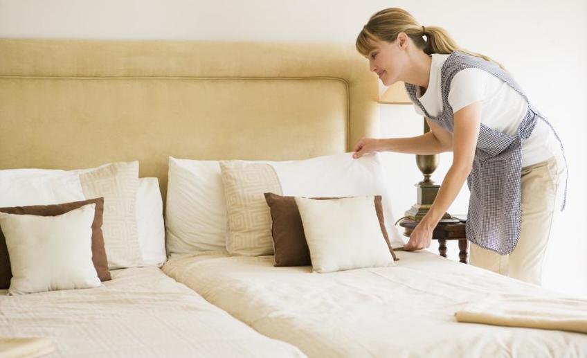 Пример как застелить кровать