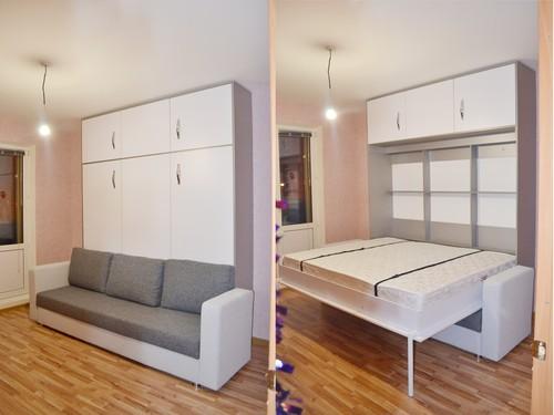 Пример кровати откидного типа