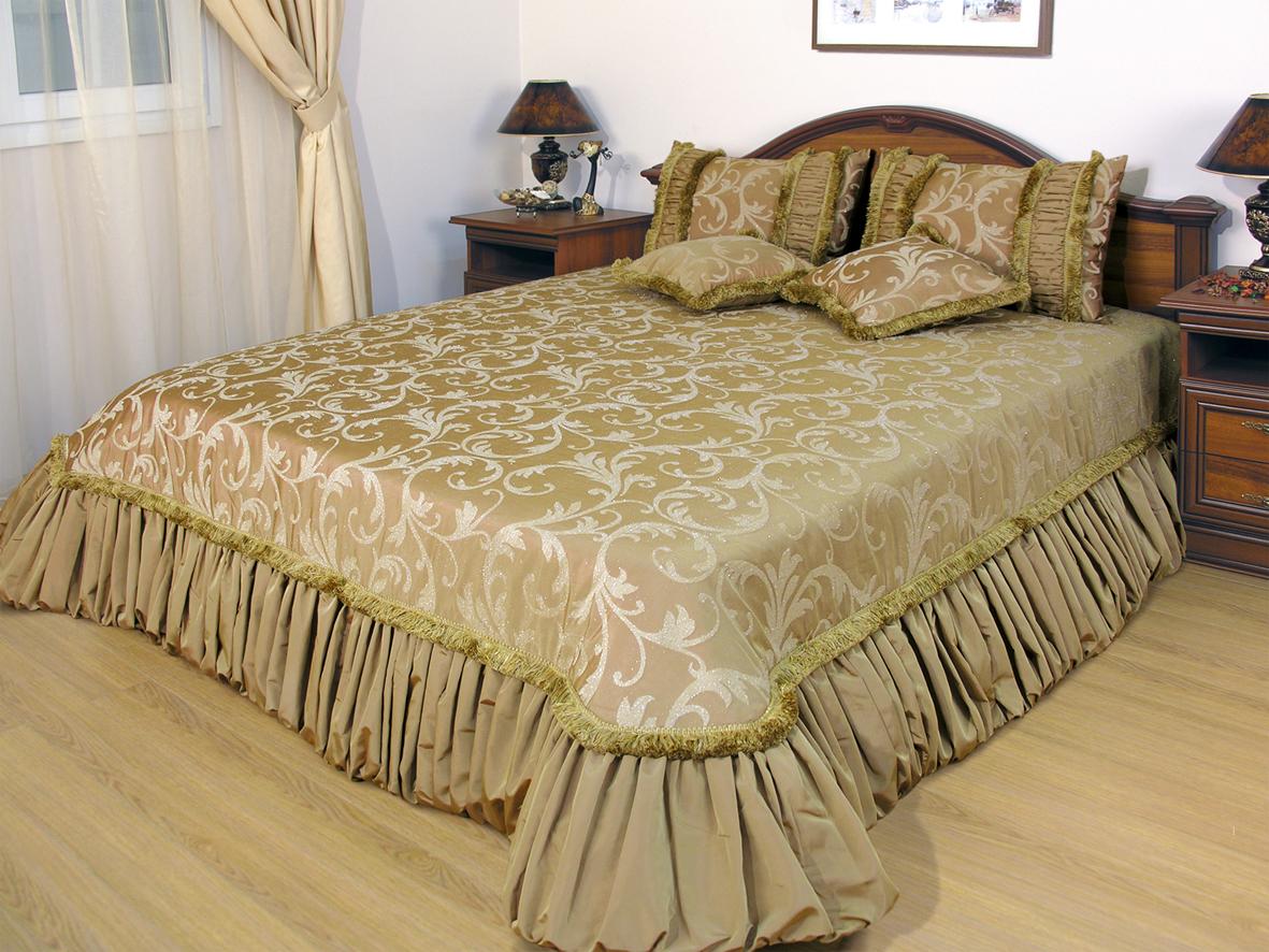 Пример оформления современной кровати
