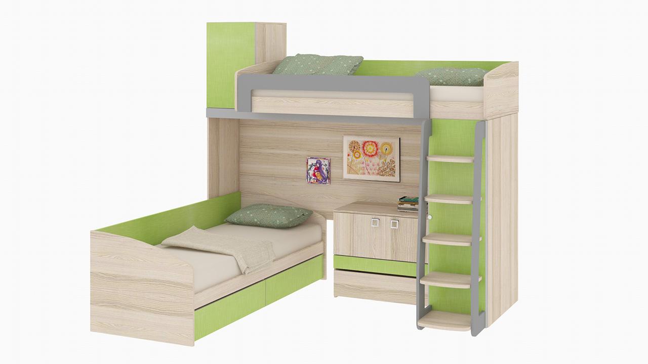 Пример угловой мебели для детской