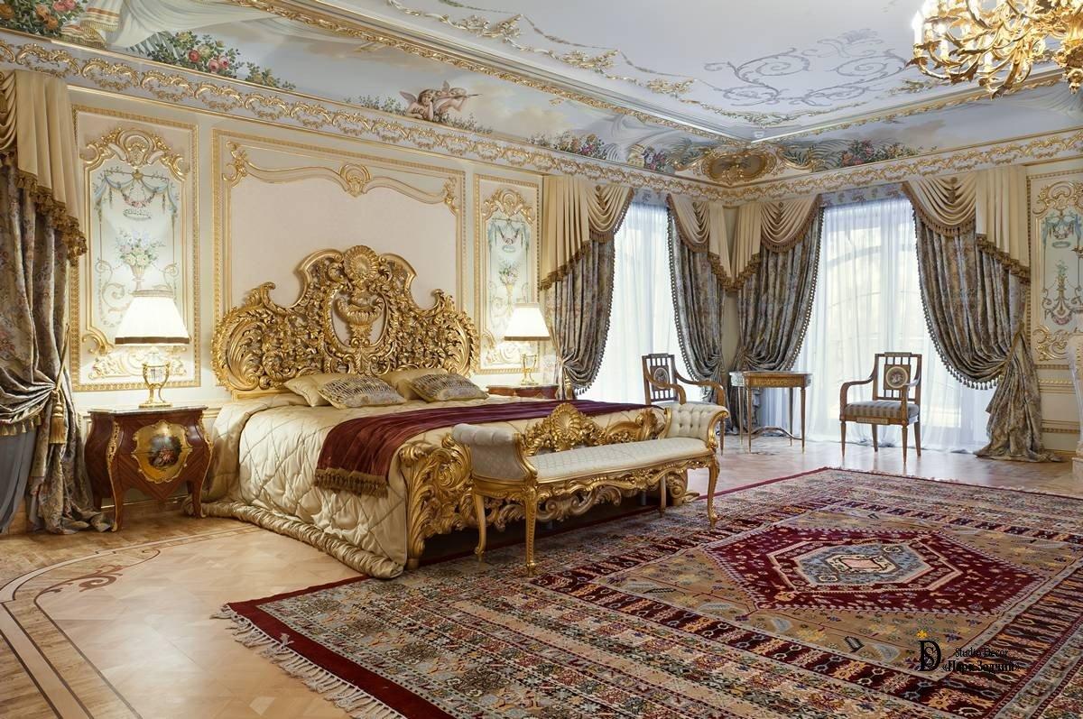 Приятное оформление спальни