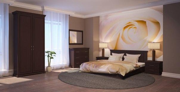 Приятный интерьер спальни