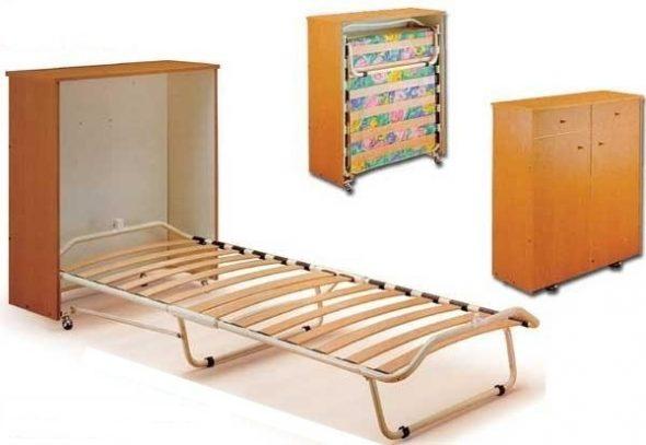 Раскладная кровать тумба
