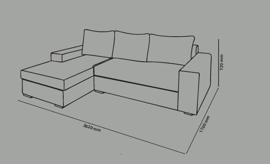 Размеры диван- кроватей