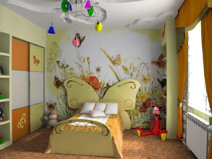 Резная кровать в комнату девочки