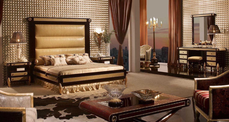 Роскошный дизайн интерьера комнаты в стиле барокко
