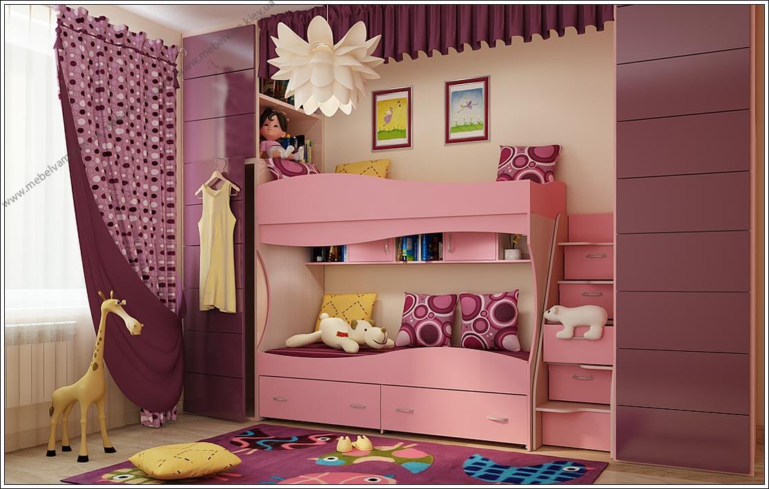 Розовые оттенки дизайна интерьера