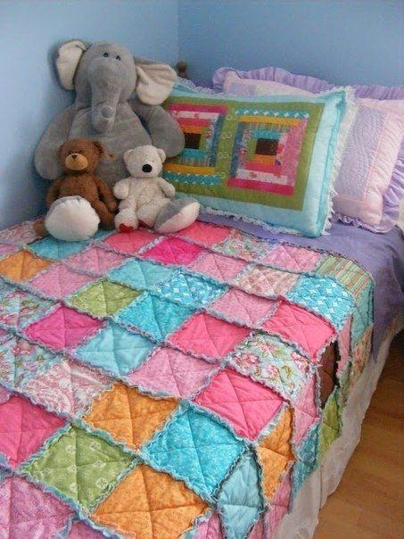 Шьем детское одеяло в технике пэчворк
