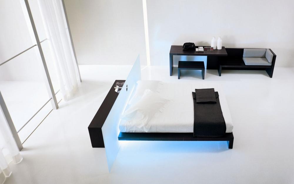 Шикарная стильная спальня