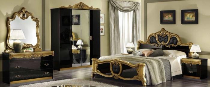 Шикарный стиль барокко в спальне