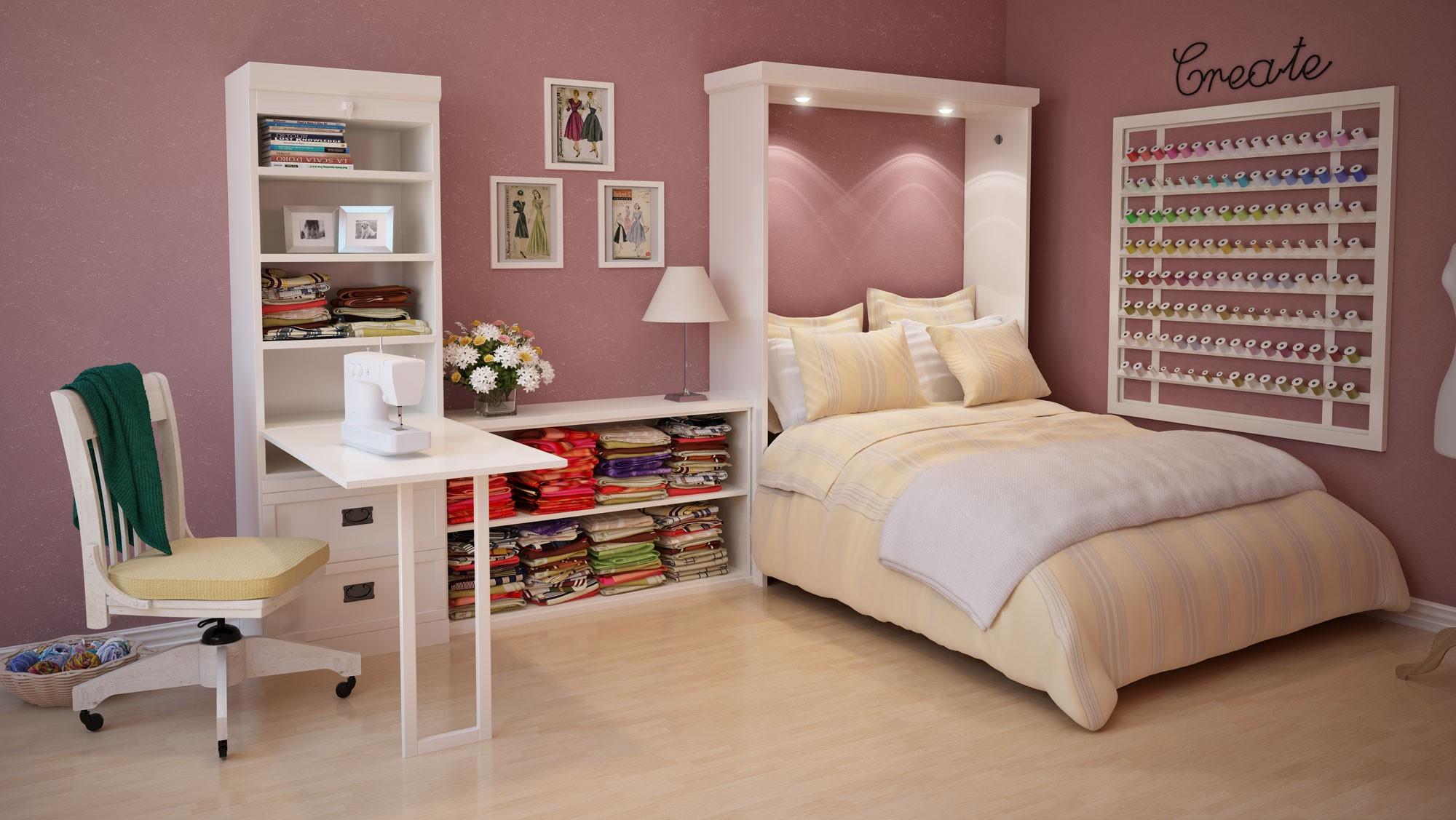 Шкаф кровать в комнату девочки