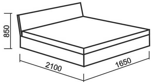 Схема и габаритные размеры кровати для двоих