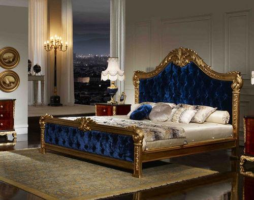 Синее бархатное спальное место