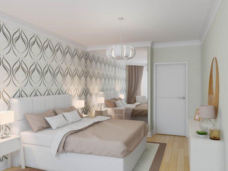 Скандинавский стиль интерьера спальни
